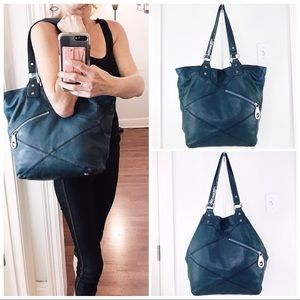 Michael Kors Teal Leather Tote Bag to Satchel